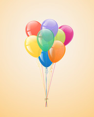 Festive balloons in the bundle.