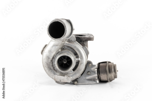 the silver turbo of the combustion engine