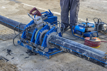 pipe welding machine for connecting water pipe