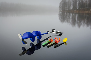 Equipment for ice pike fishing