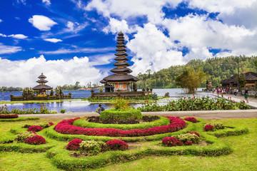 spiritual Bali. Ulun Danu temple in  Bratan lake