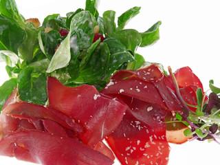 rehschinken mit winter salat