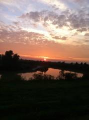 tramonto in pianura
