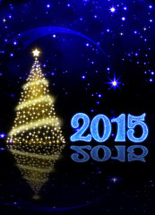 Christmas tree on new  year  background.