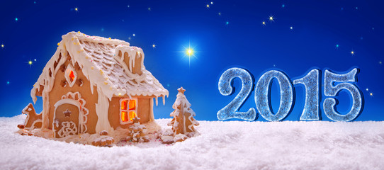 Holiday Gingerbread house and new year  2015.