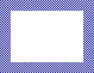 Blue and White Hearts Frame