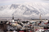 Panorama view of Reykjavik