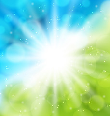 Cute nature background with lens flare