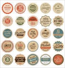 Premium quality retro badges