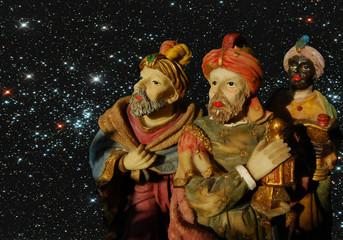 Reyes Magos, Melchor, Gaspar, Baltasar, estrellas, Navidad