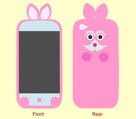 Design case for mobile phone front and rear
