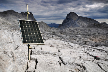Solar panel energy mountains