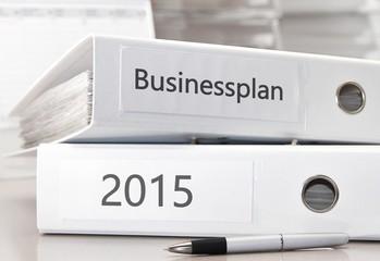 Businessplan 2015 in Büroordnern