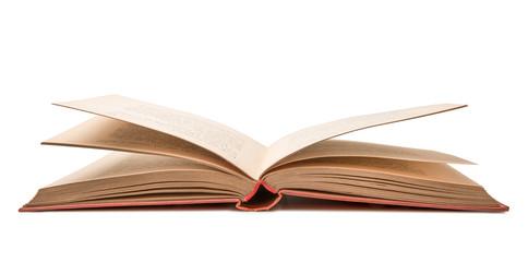 libro aperto in fondo bianco