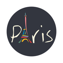 Paris lettering vector illustration