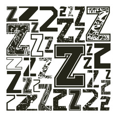 Set versions of letters Z
