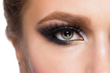 Fototapety Closeup of eye makeup
