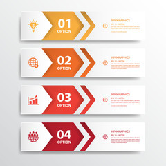 Design clean number banners template/graphic or website