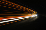 Interesting and abstract lights in orange, red, yellow and white
