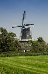 Windmill in Northern Netherlands
