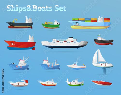 Ships & Boats set - 75545677