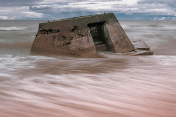Latvian Baltic Sea coast with Blockhouses