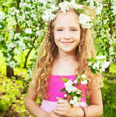 Girl at spring