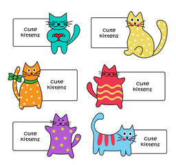 signs with Cartoon kittens