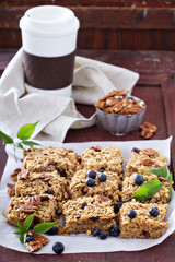 Vegan baked oatmeal with pecans