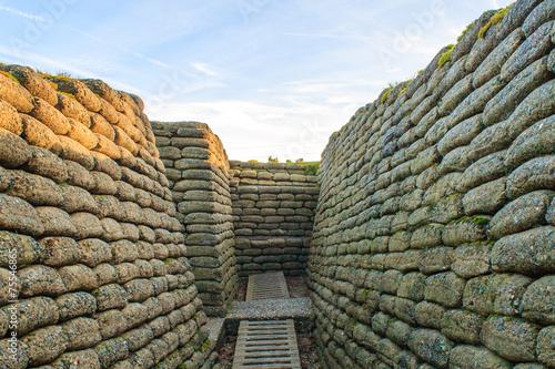 Plexiglas Vestingwerk The trenches on battlefield of Vimy ridge France