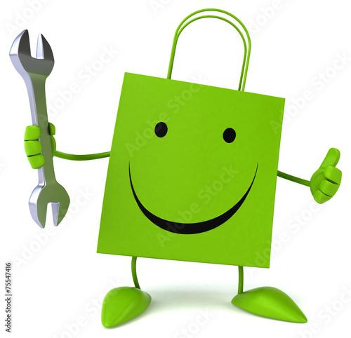 canvas print picture Fun shopping bag