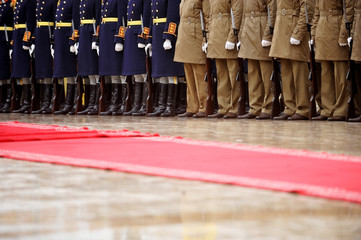 Red carpet military ceremony