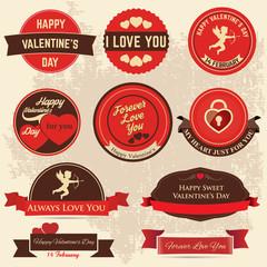Valentinstag Labels