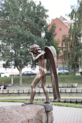 Monument of crying angel in Minsk