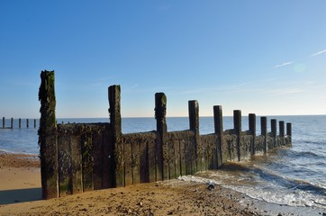 Groyne stretching into sea