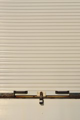Closed white shutters