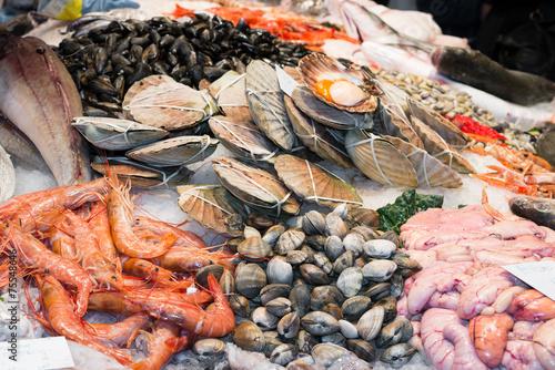 Fototapeta Fish and seafood store