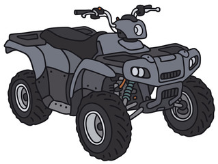 Blue all-terrain vehicle - not a real model