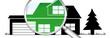 lb18 LupenBanner Lupe - hgb7 HausGarageBaum - grün2 - g2940