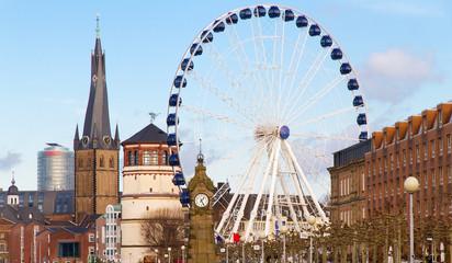 Düsseldorfer Altstadt im Winter