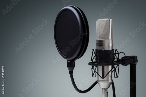 Leinwanddruck Bild Studio microphone