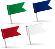 Set of pin icon flags. Vector illustration - 75551432