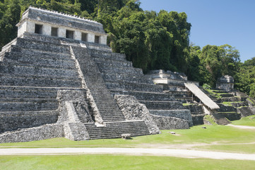 Temple of Inscriptions, ancient Mayan city of Palenque (Mexico)
