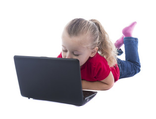 child at the computer