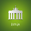 canvas print picture - Berlin, Germany. Green greeting card.