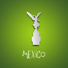 Mexico. Green greeting card.