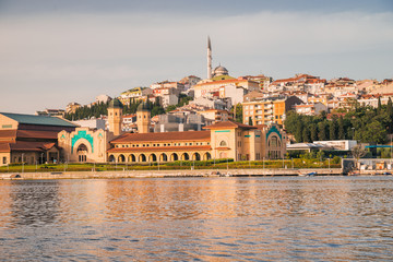mosque in Istanbul. view of Istanbul on Golden Horn