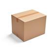 Leinwandbild Motiv box package delivery cardboard carton