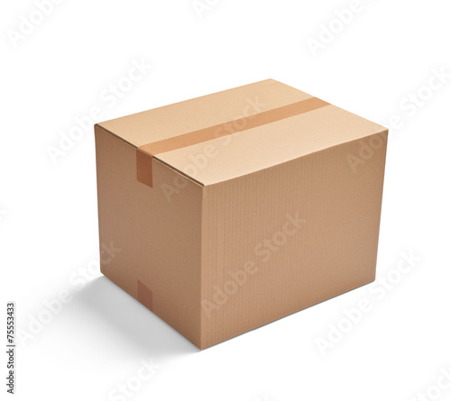 box package delivery cardboard carton - 75553433