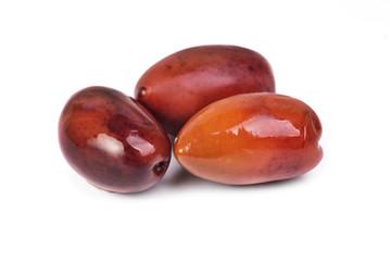 Kalamata olives isolated on white background